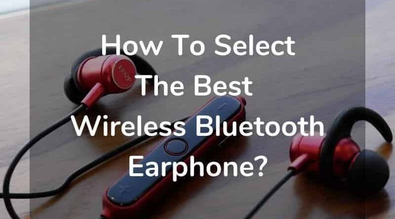 Wireless Bluetooth Eaarphone